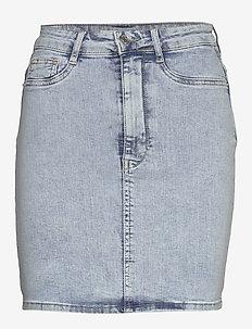 Molly denim skirt - korte rokken - blue snow (5181)