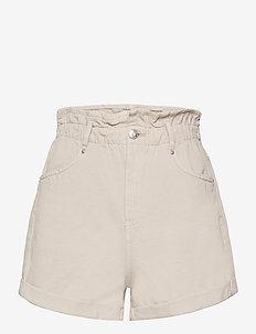 Paperbag denim shorts - denimshorts - sand