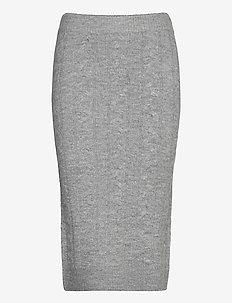 Lilian knitted skirt - midi kjolar - grey melange (8181)