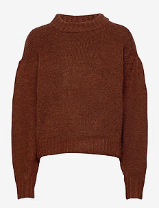Taylor knitted sweater - swetry - fiery brown mel (7189)