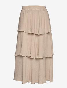 My frill skirt - maxi röcke - light beige (7070)