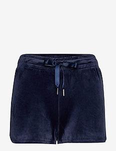 Cecilia velour shorts - casual szorty - evening blue (5370)