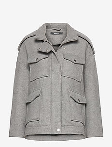 Lollo jacket - wool jackets - lt grey