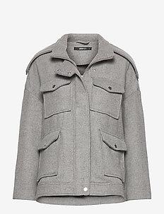 Lollo jacket - ulljackor - lt grey