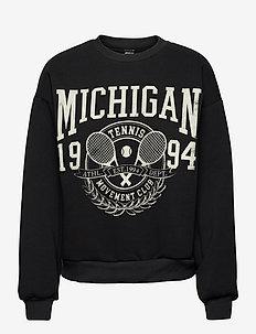 Riley sweater - sweatshirts - offblack/tennis (9707)