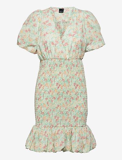 Anina dress - krótkie sukienki - romantic floral (9402)