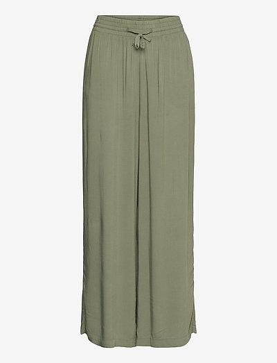 Disa trousers - wide leg trousers - khaki (7260)