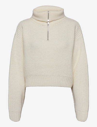 Leslie knitted sweater - gensere - warm white (1212)
