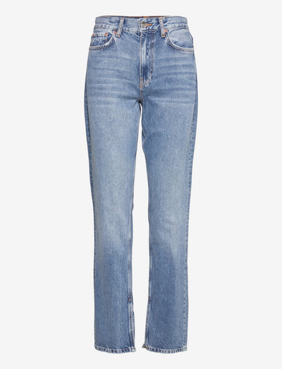 Original slit jeans - straight jeans - mid blue