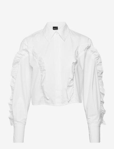 Asli cropped shirt - denimskjorter - white (1000)