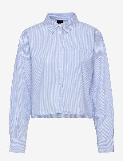 Pj shirt - denimskjorter - lt blue/stripe (5212)