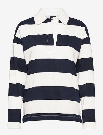 Jadie sweater - koszulki polo - navy/stripe