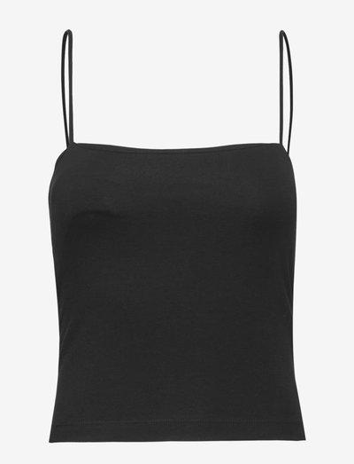 Scarlet singlet - ermeløse topper - black (9000)