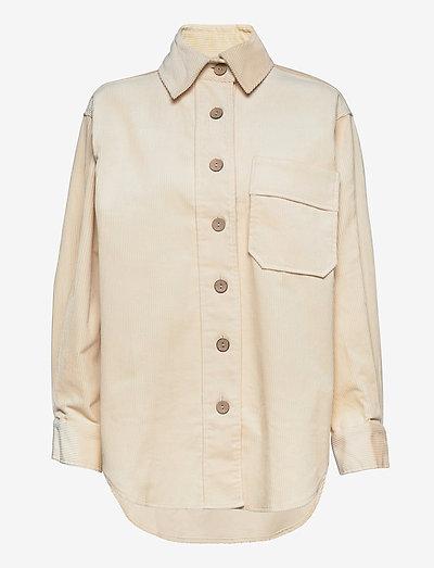 Olive corduroy shirt - tøj - ecru (1045)