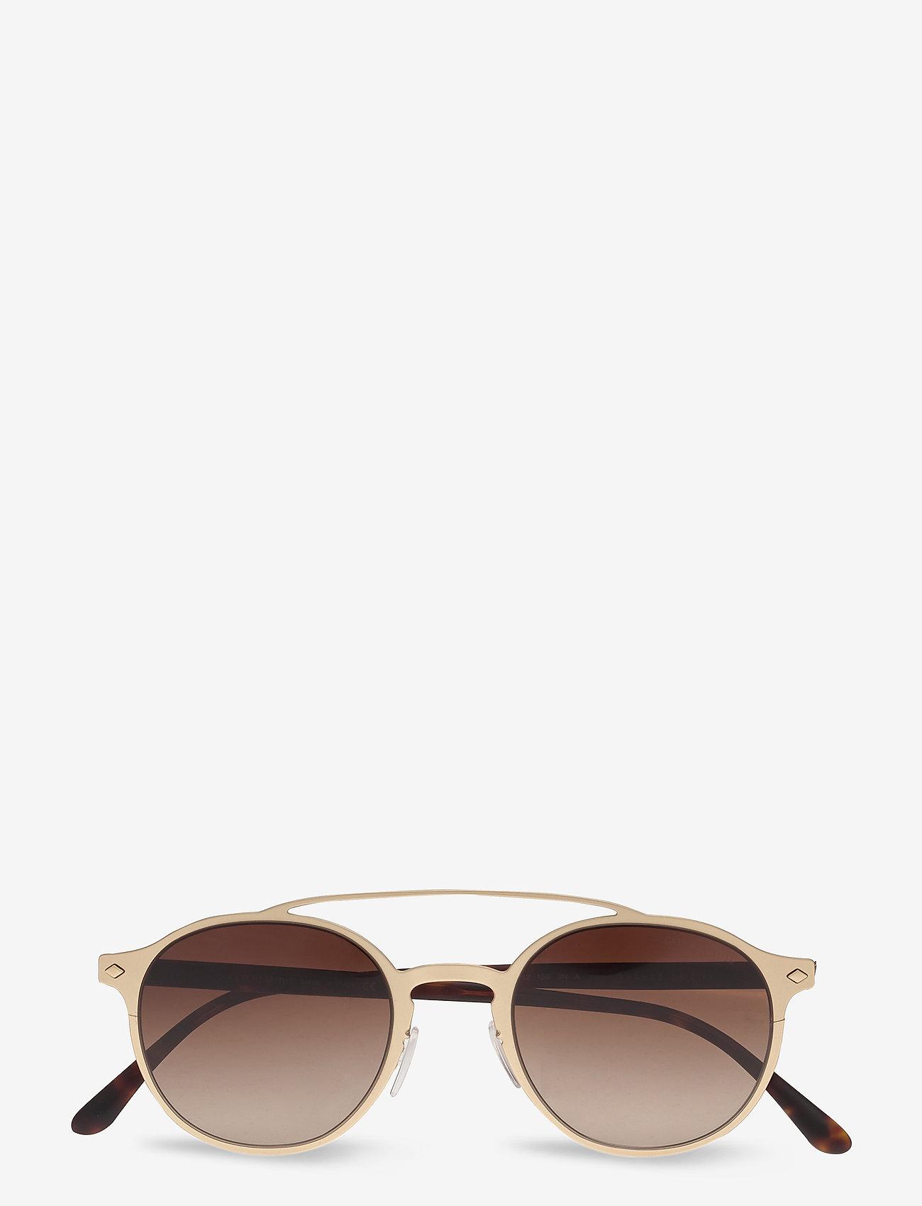 Giorgio Armani Sunglasses - 0AR6041 - rund ramme - matte pale gold - 0