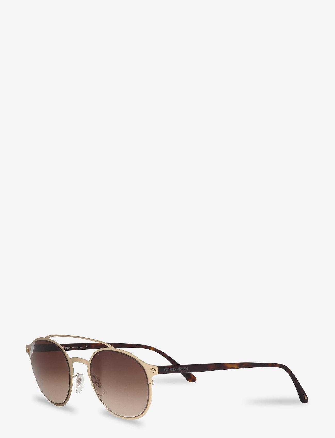Giorgio Armani Sunglasses - 0AR6041 - rund ramme - matte pale gold - 1