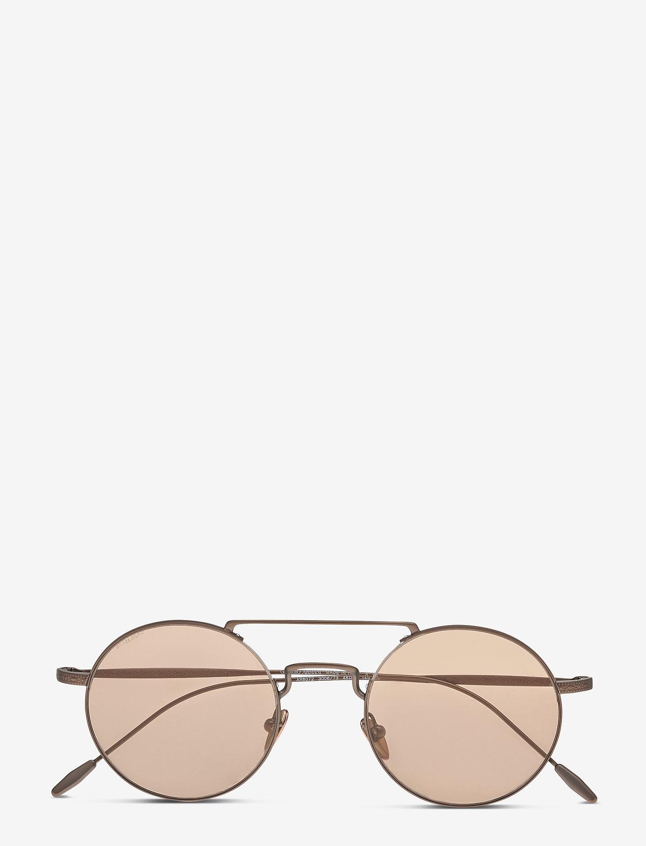 Giorgio Armani Sunglasses - 0AR6072 - rund ramme - matte bronze - 0
