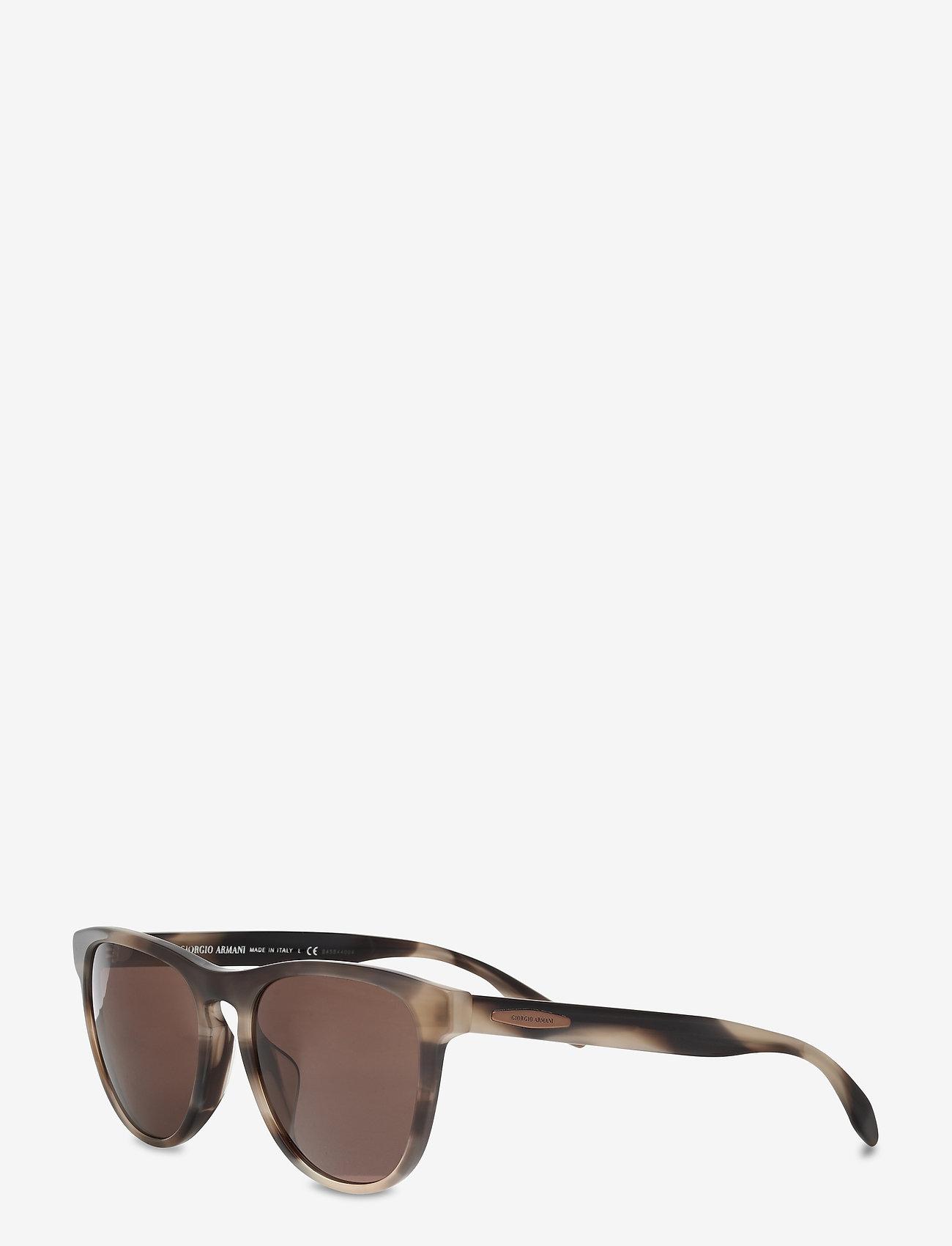 Giorgio Armani Sunglasses - 0AR8116F - d-shaped - striped grey - 1