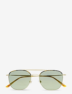 FRAMES OF LIFE - round frame - yellow havana/matte pale gold
