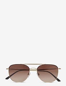 FRAMES OF LIFE - okrągłe okulary przeciwsłoneczne - havana/matte pale gold