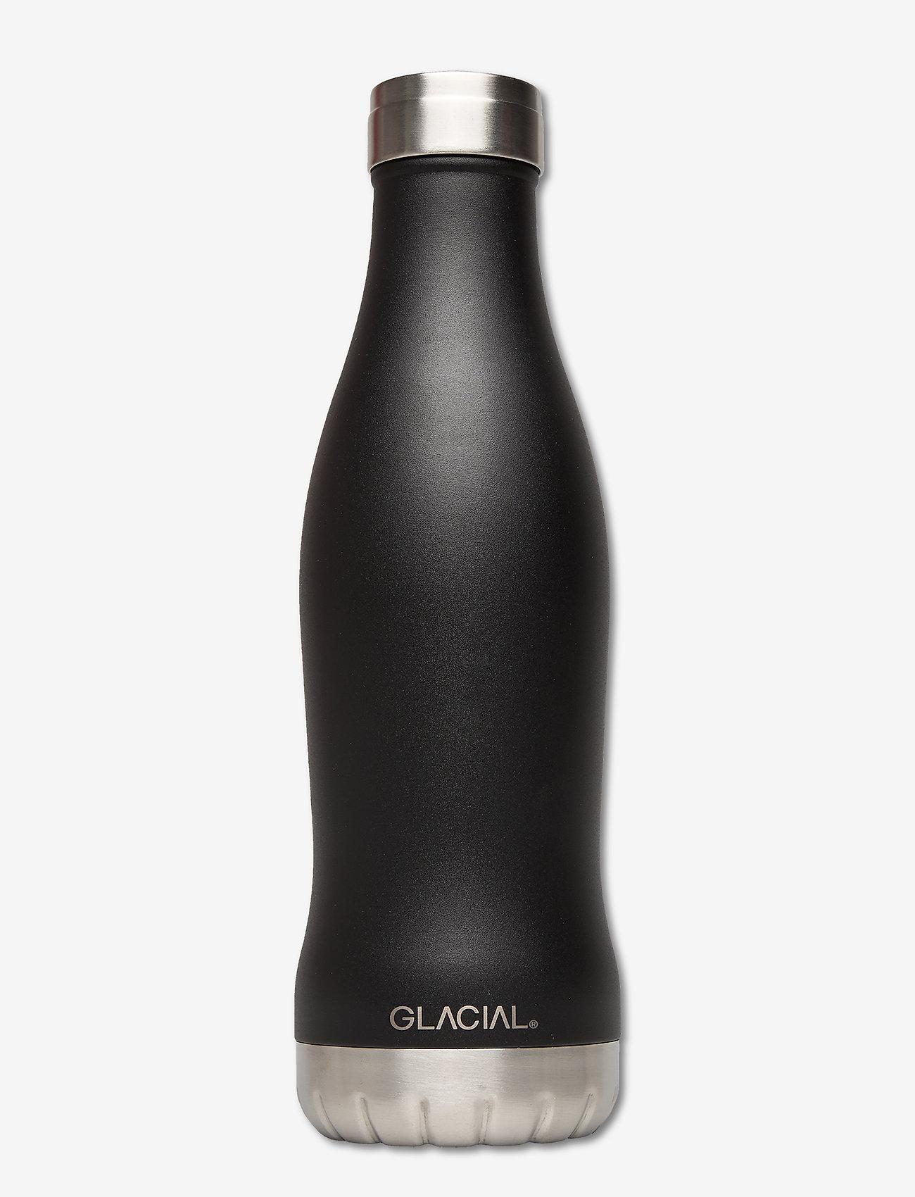 GLACIAL - Matte Black 600ml - vannflasker og termoser - matte black - 0