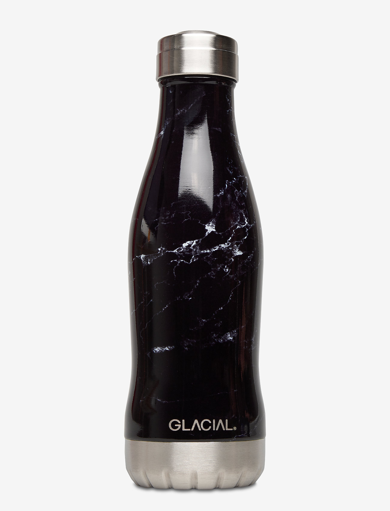 GLACIAL - Black Marble 400ml - vannflasker og termoser - black marble - 0