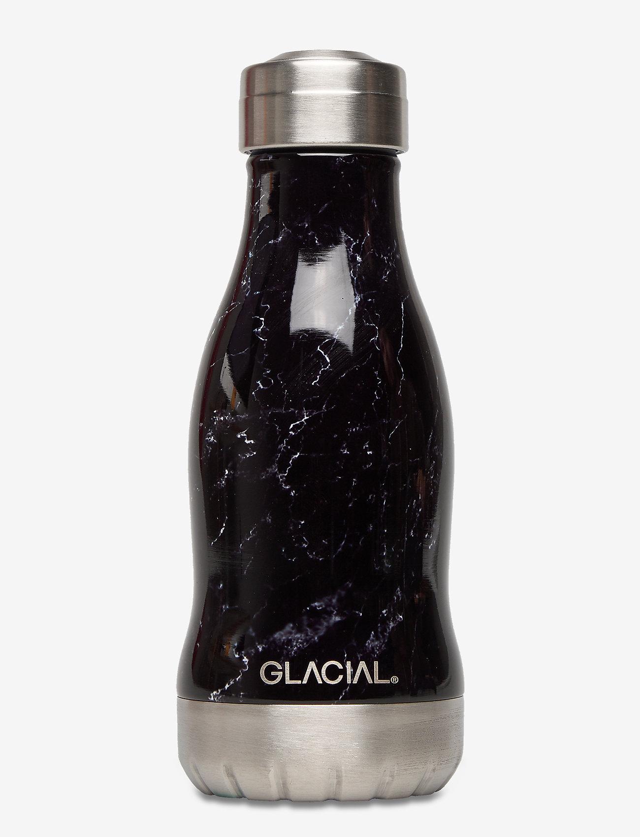 GLACIAL - Black Marble 260ml - vannflasker og termoser - black marble - 0