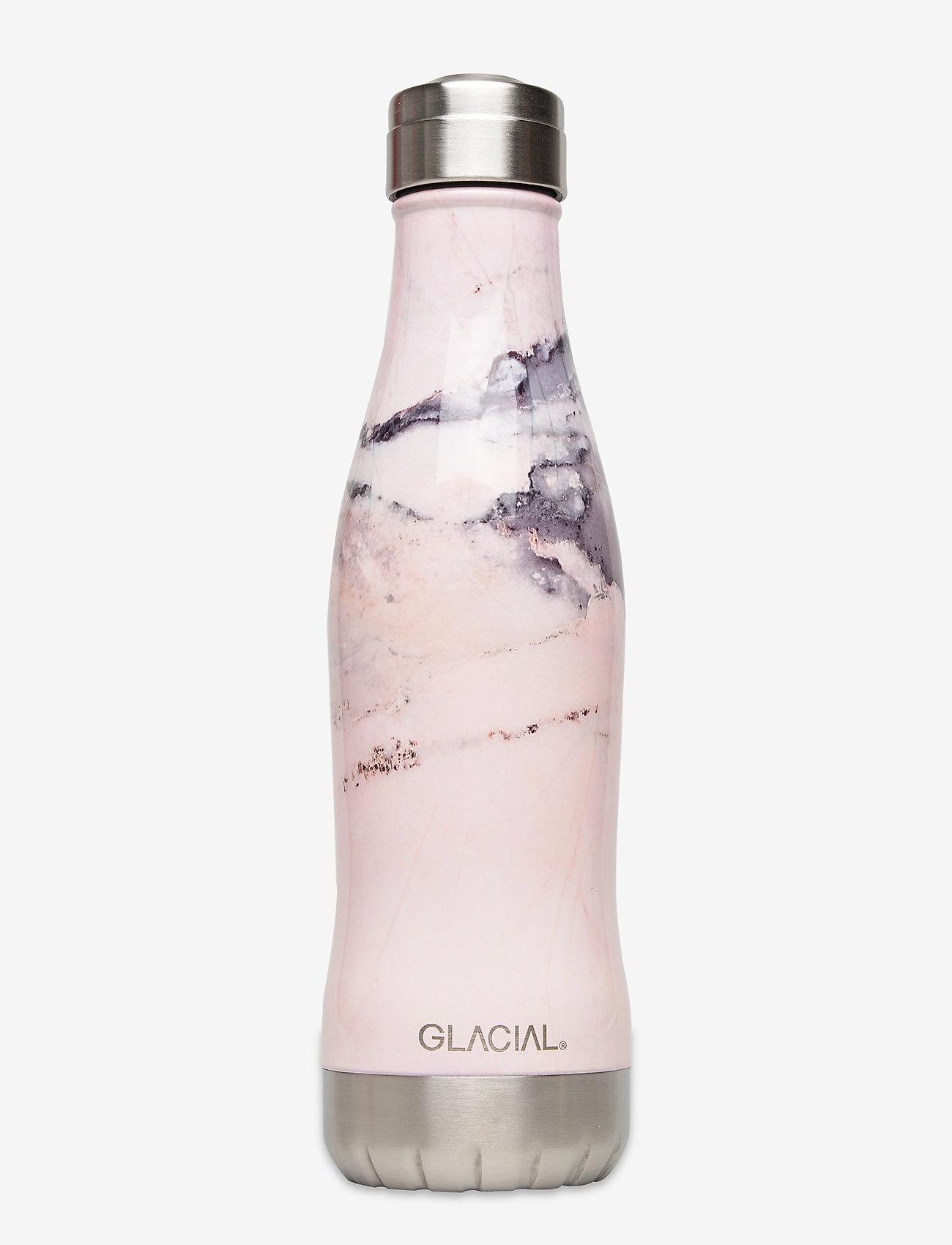 GLACIAL - Pink Marble 400ml - vannflasker og termoser - pink marble - 0
