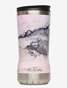 Tumbler Pink Marble 350ml - thermal bottles - pink