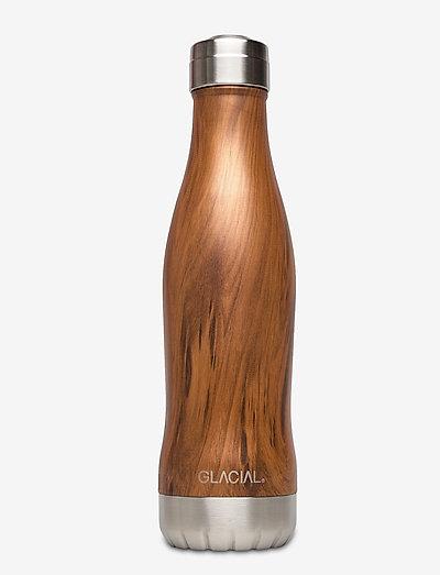 Teak Wood 400ml - vannflasker og termoser - brown