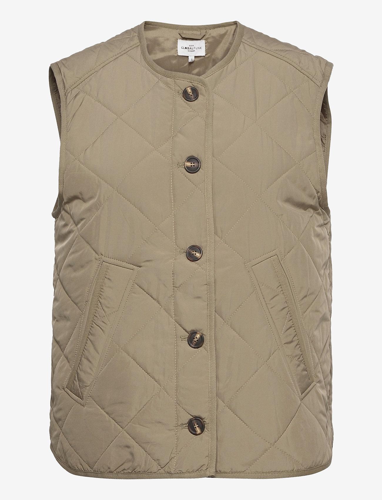 Global Funk - Feeney - puffer vests - khaki dust - 0
