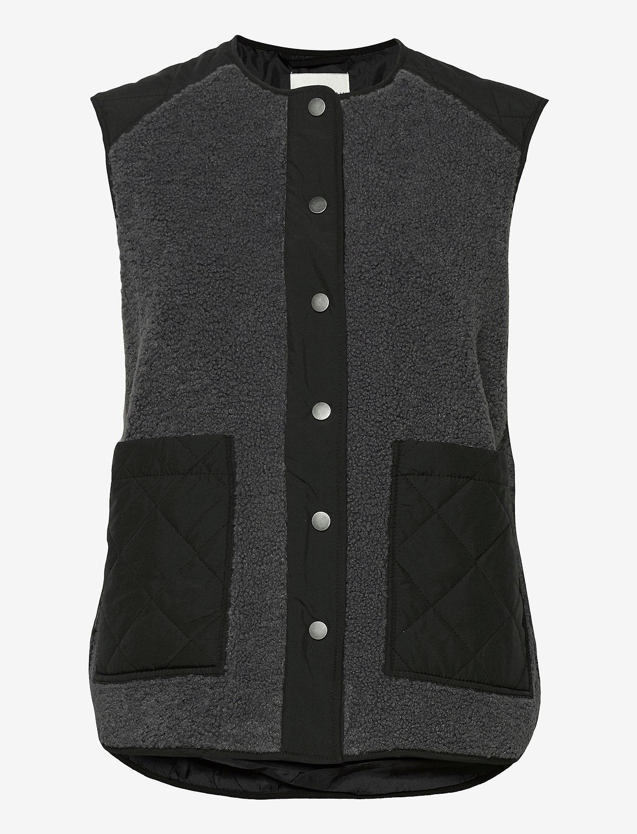 Global Funk - Vinson - knitted vests - grey black mix - 0