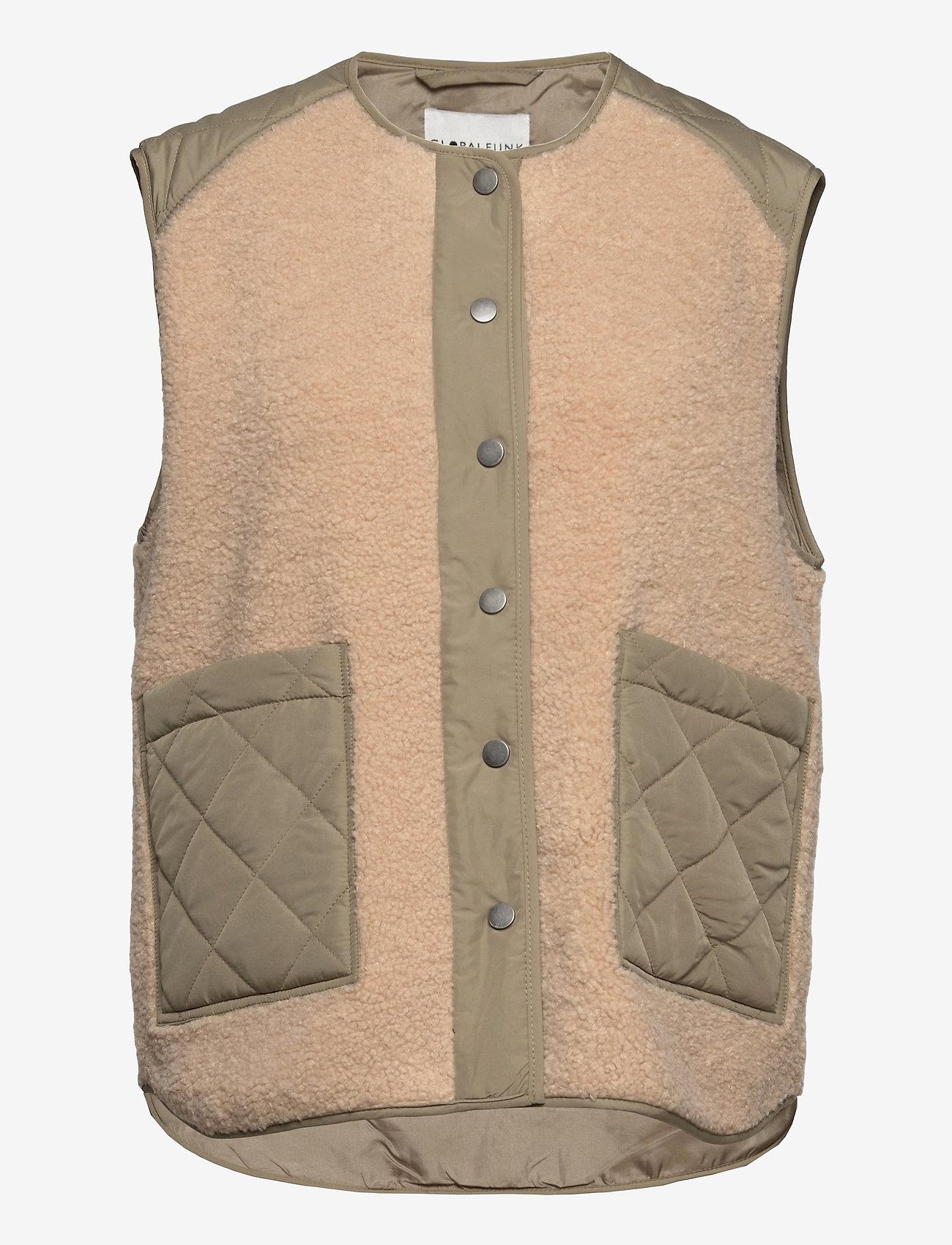 Global Funk - Vinson - knitted vests - khaki sugar mix - 0