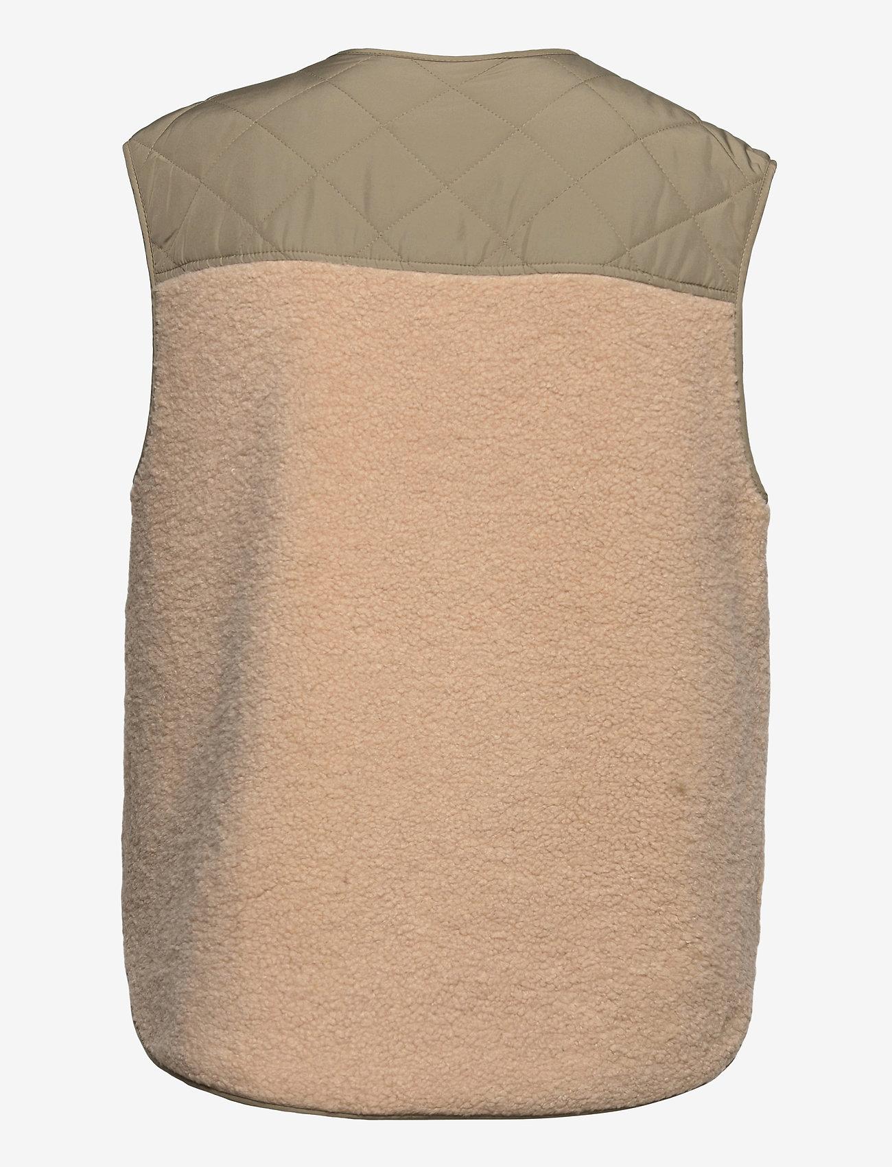 Global Funk - Vinson - knitted vests - khaki sugar mix - 1