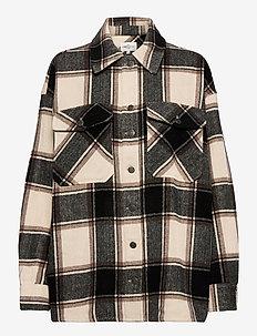 Funda - overshirts - black brown check