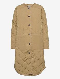 Mays - quilted jackets - dark sand