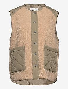 Vinson - knitted vests - khaki sugar mix