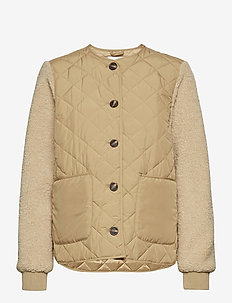 Shiv - quilted jackets - sand sugar mix