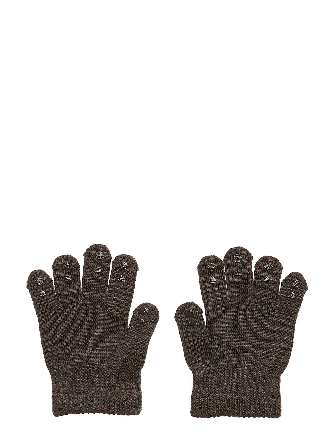 GoBabyGo Wool Grip Gloves - DARK GREY MéLANGE