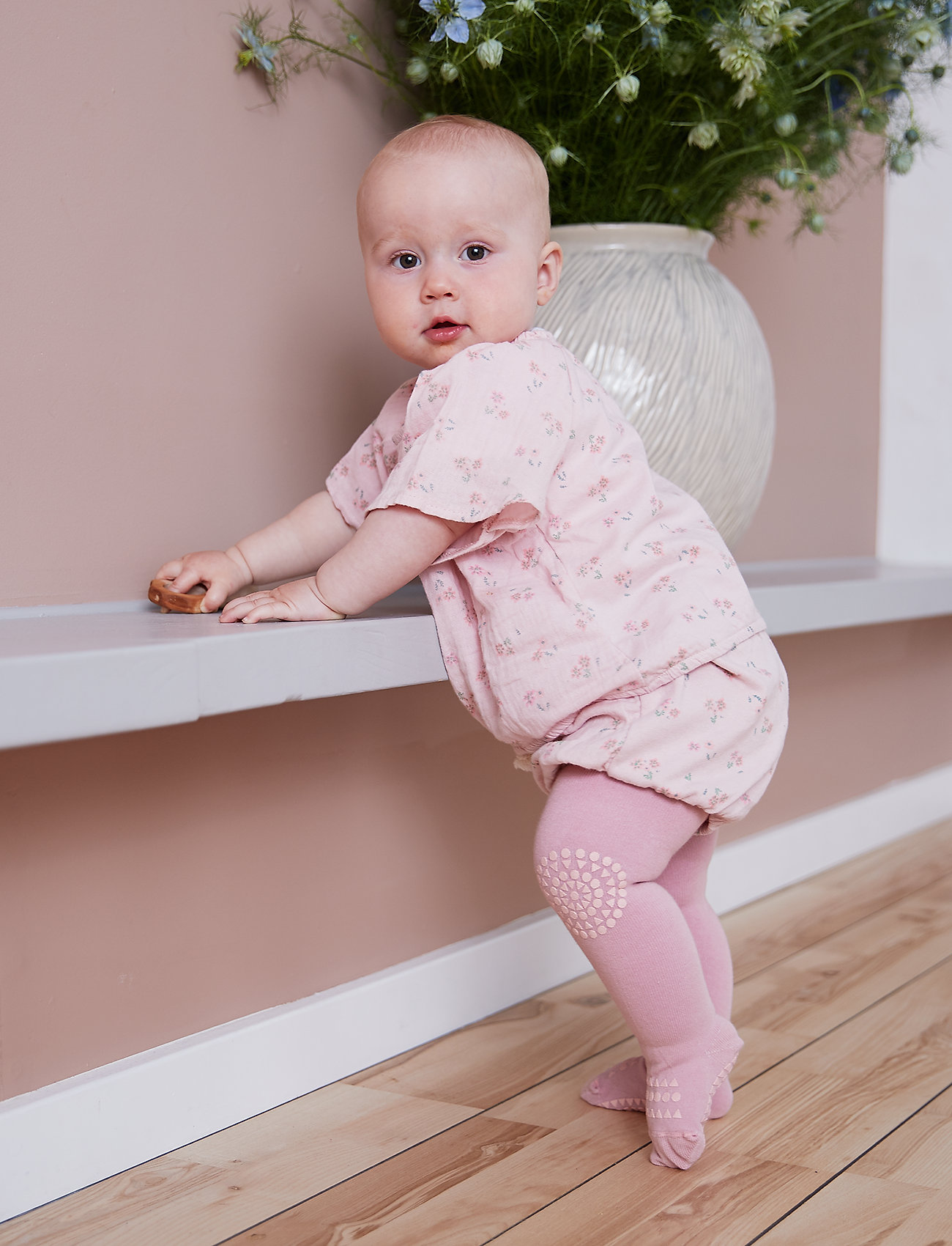 GoBabyGo - Crawling Tights - strømpebukser - dusty rose - 0