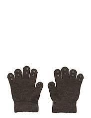 Wool Grip Gloves - DARK GREY MéLANGE