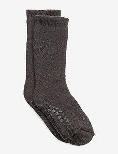 Socks - non-slip socks - dark grey mélange