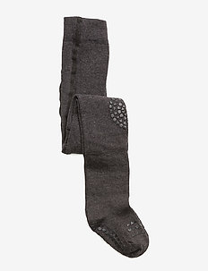 Tights - non-slip socks - dark grey mélange