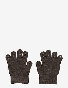 Wool Grip Gloves - DARK GREY MéLANGE