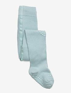 Crawling Tights - non-slip socks - mint green