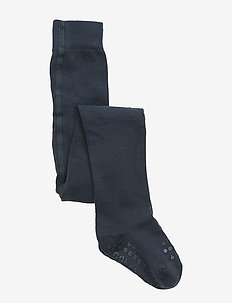 Crawling Tights - non-slip socks - petroleum blue