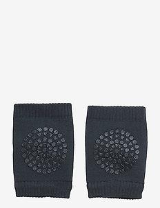 Crawling Kneepads - non-slip socks - petroleum blue