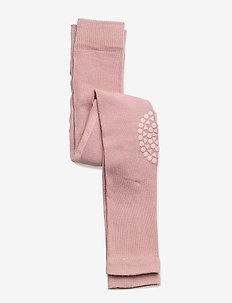 Crawling Leggings - non-slip socks - dusty rose