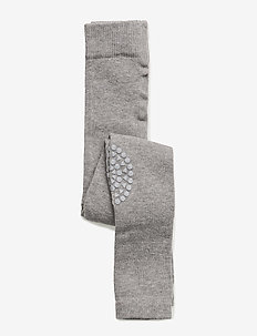 Crawling Leggings - non-slip socks - grey melange