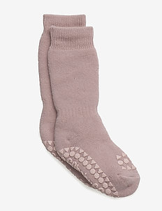 Non-slip socks - dusty rose